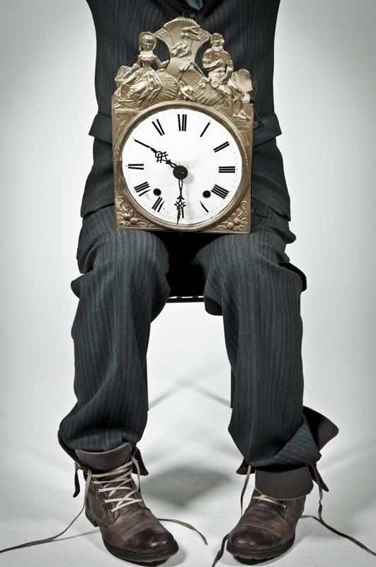 Human Clock Bank Cashier - Galerie alainrousseau.com