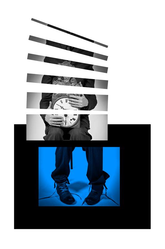 Human Clock is Blue - Galerie alainrousseau.com