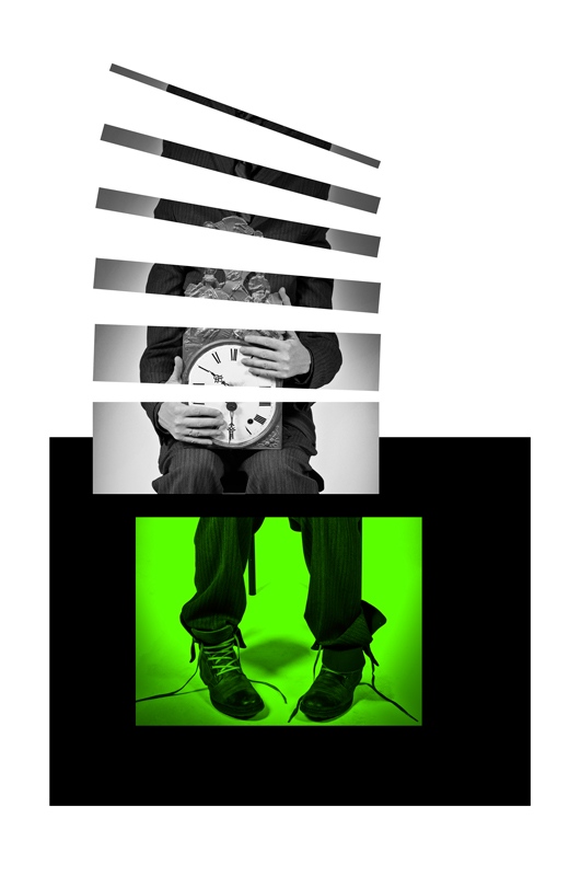 Human Clock is Green - Galerie alainrousseau.com