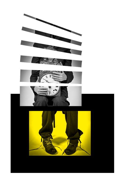 Human Clock is Yellow - Galerie alainrousseau.com